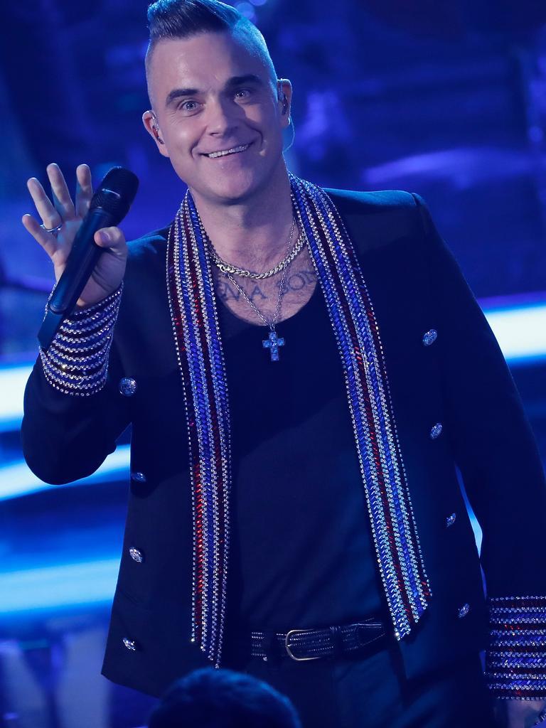 Robbie Williams on stage in December last year. Picture: Felipe Trueba