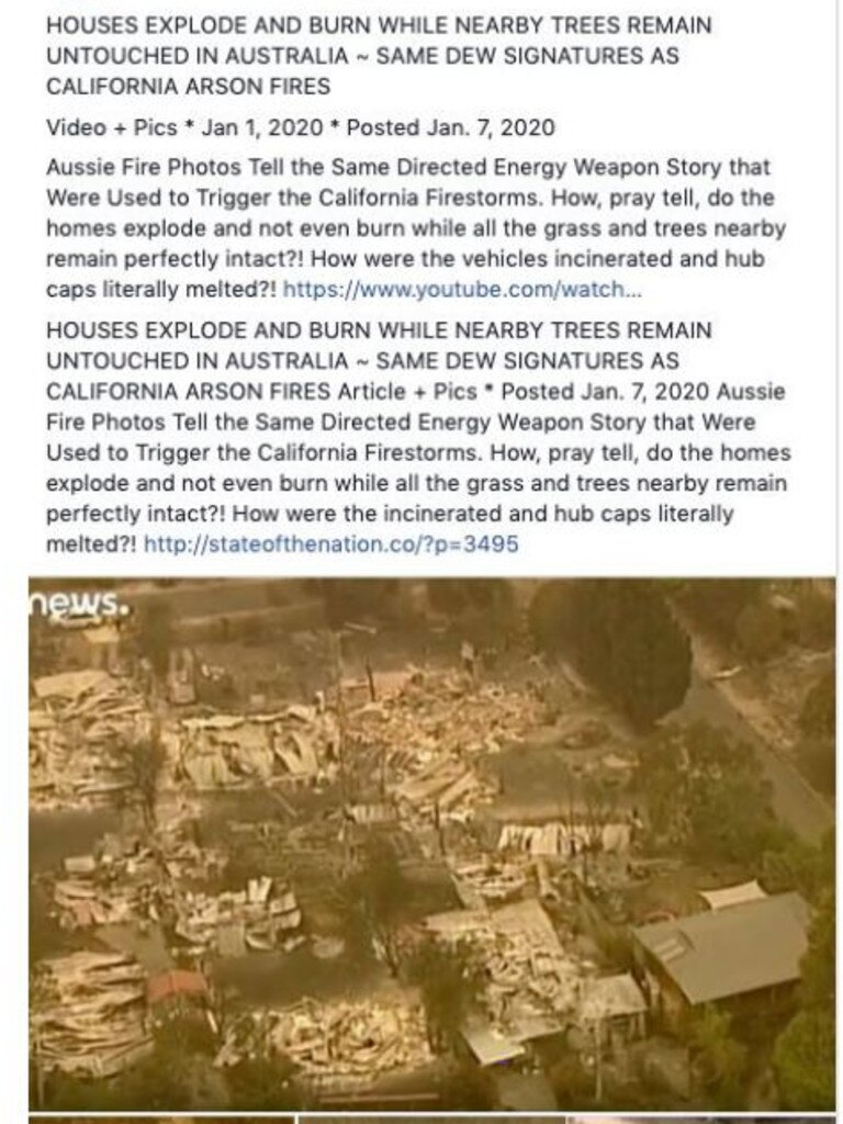 The crisis has been compared to the California wildfires, out of which similar theories were formed.
