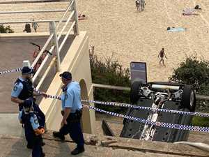 Car crashes down cliff at Bondi Beach