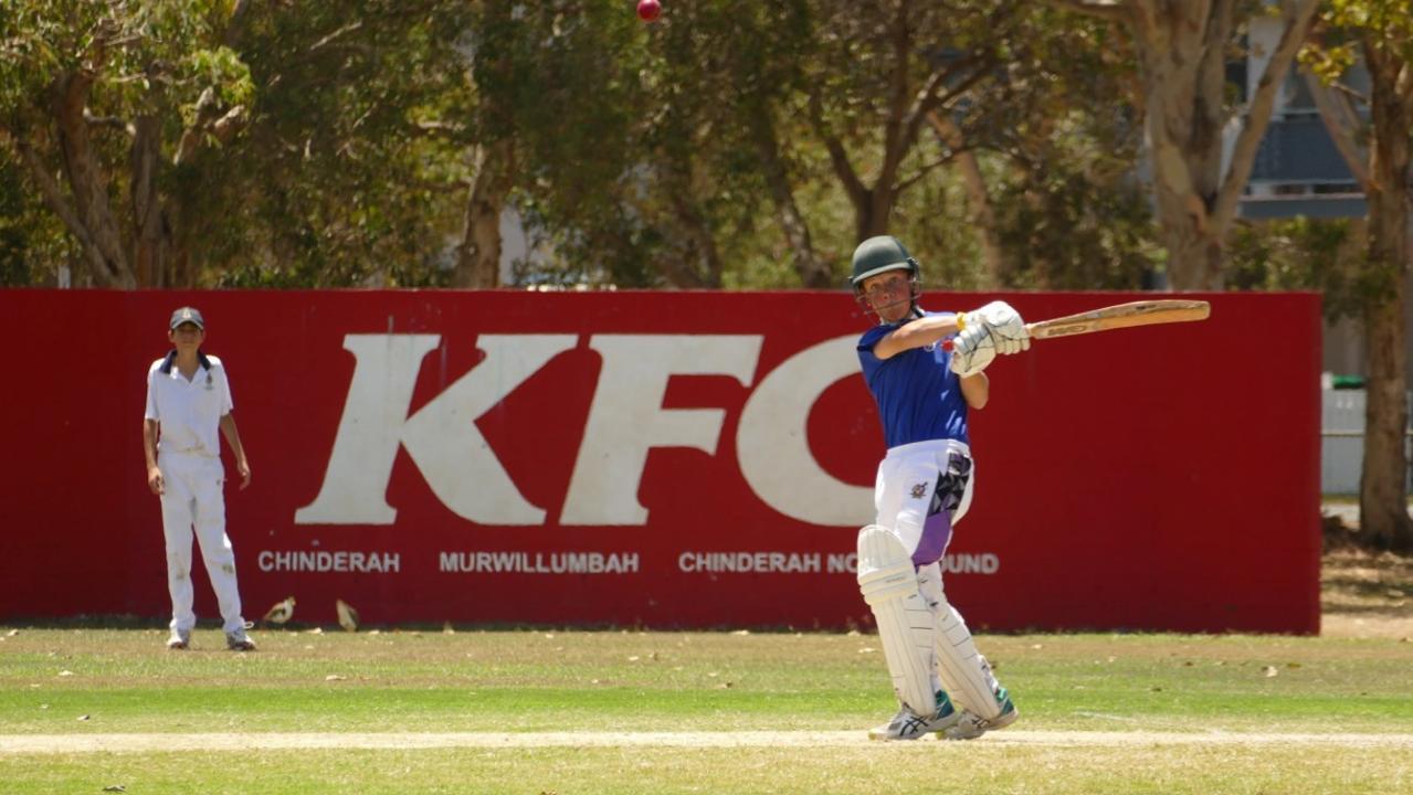 Pottsville cricketer Brodie McDowell batting. Photo courtesy of David Lamb.