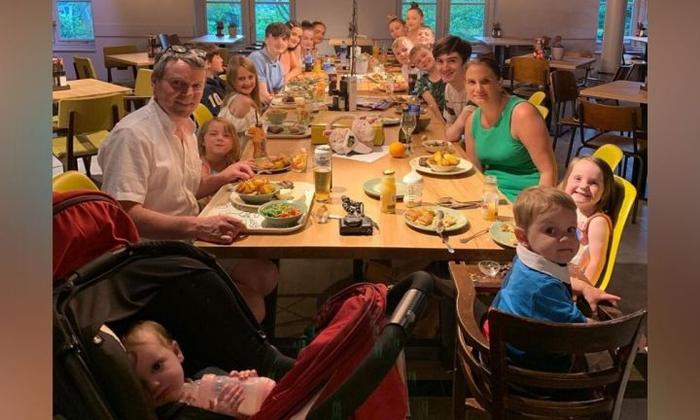 The couple currently lives with 19 of their 21 kids... Source: Instagram