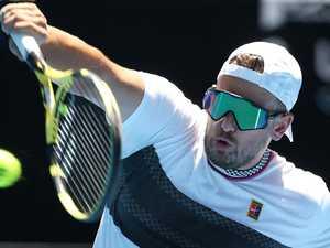 ALCOTT ARRIVES: Tweed courts tennis world champ