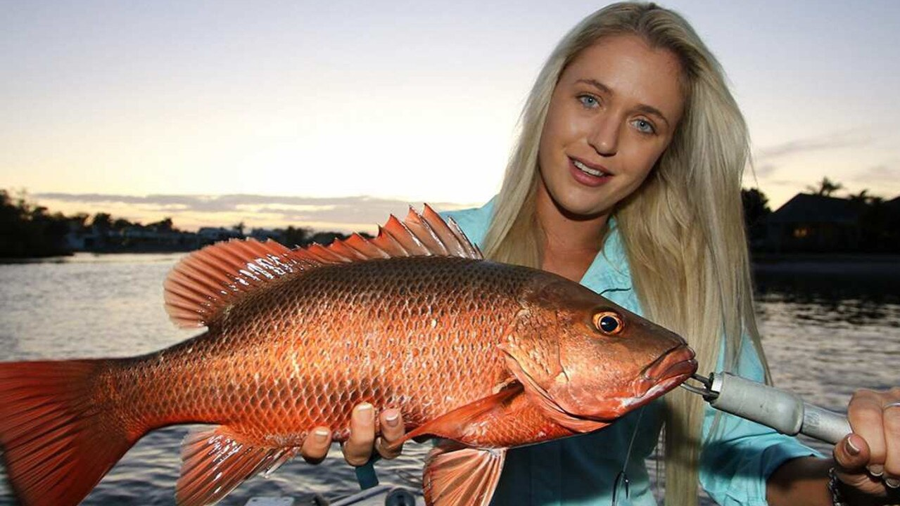 GOTCHA - Layla Innes with her personal best 52cm mangrove jack. Caught on a live mullet in the lower Noosa estuary. Photo: www.fishingnoosa.com.au