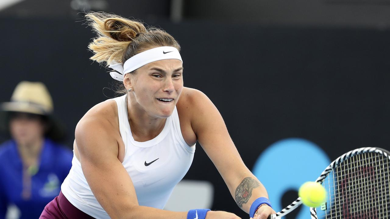 Aryna Sabalenka has knocked out Simona Halep. Picture: Sarah Reed.