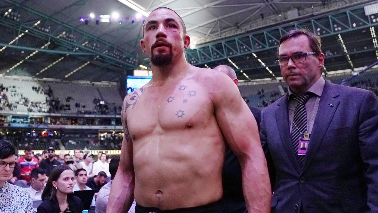 Rob Whittaker has had to put his run at the middleweight belt on ice. Pic: AAP