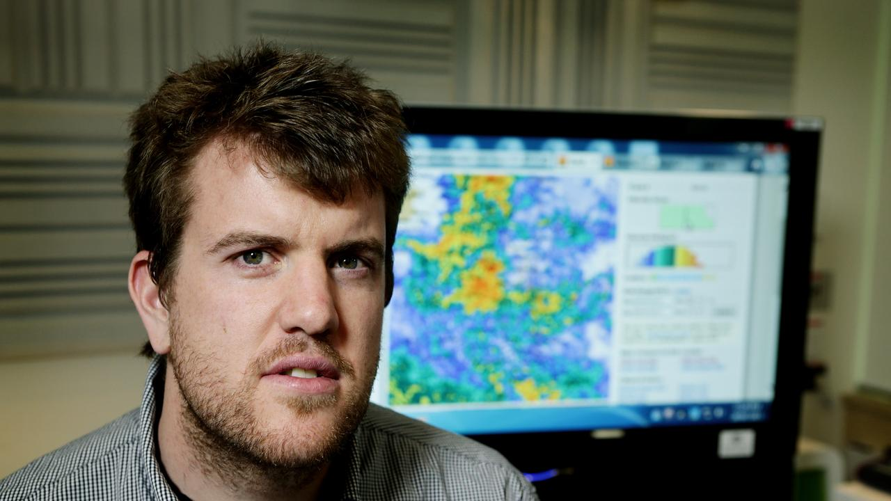 Bureau of Meteorology forecaster Dean Narramore. Photo: Mark Calleja