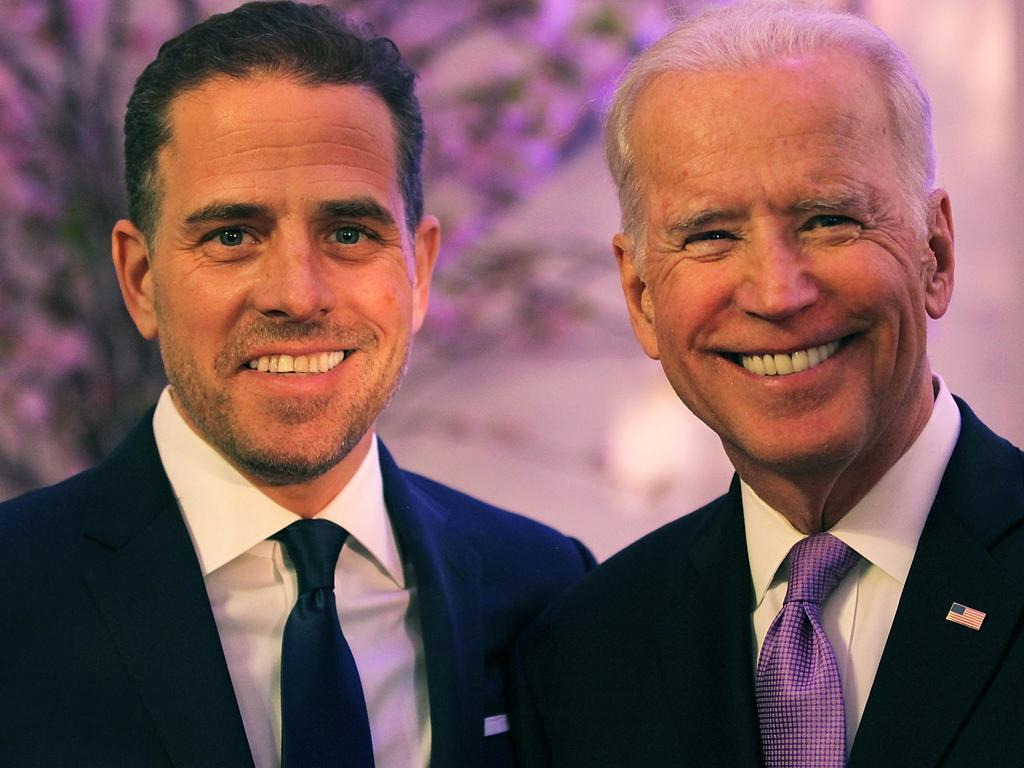 Hunter Biden (L) and his father, former US Vice President Joe Biden. Picture: Getty