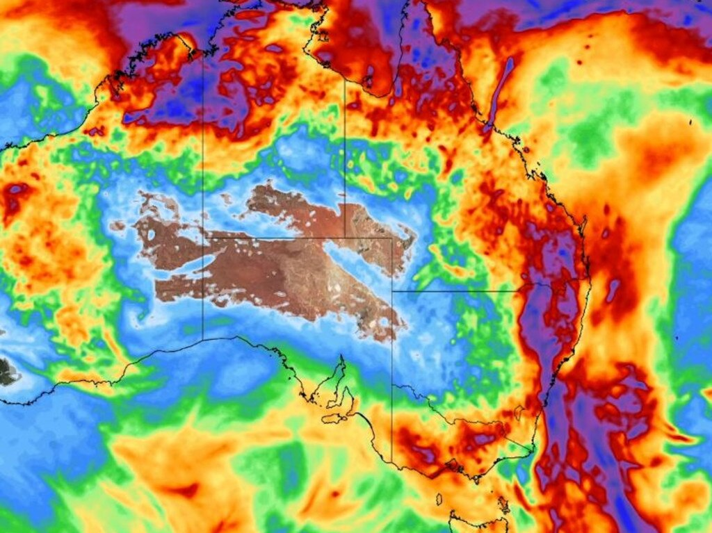Forecast rain for Australia. Picture: WeatherZone