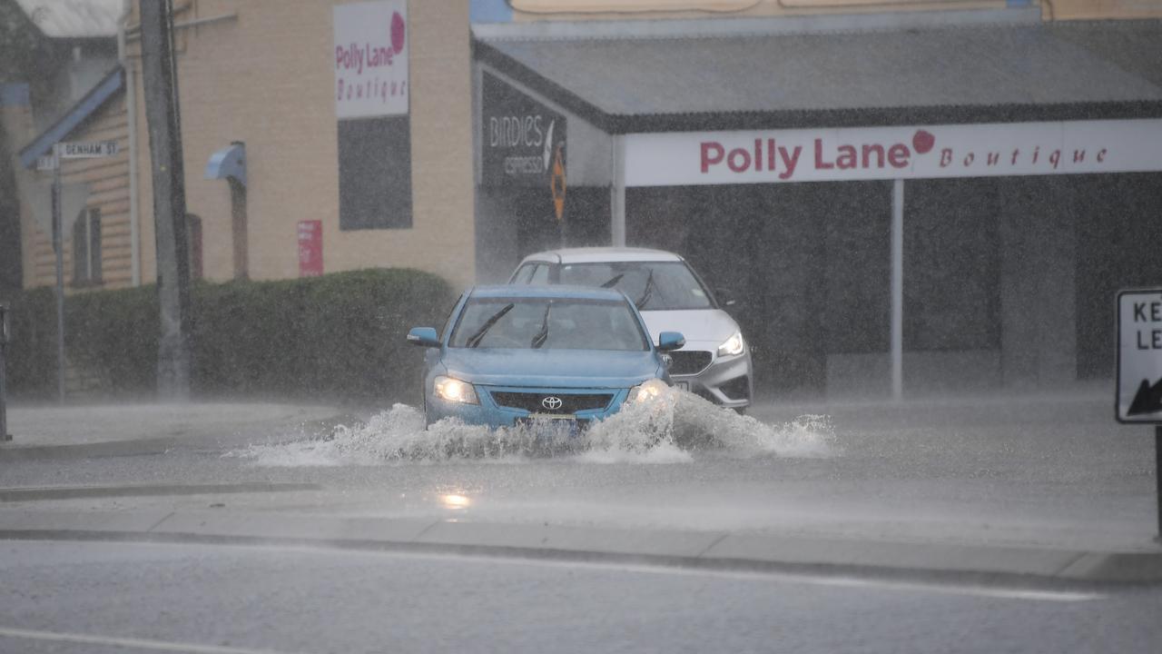 Flash flooding hits parts of Rockhampton this morning.