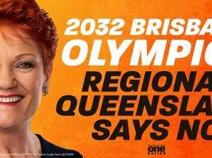 Hanson to campaign against 2032 Olympics bid