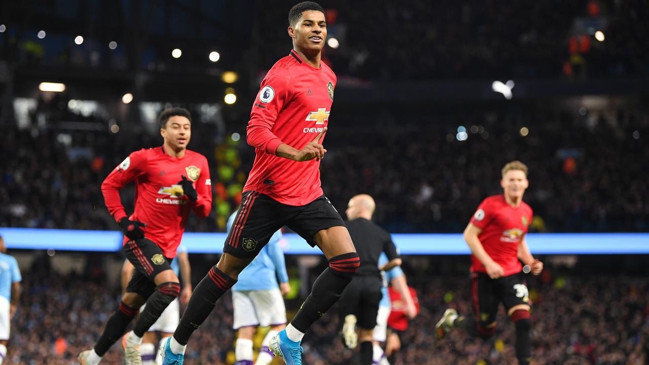 Marcus Rashford cracked Manchester City's season apart. Photo: Michael Regan/Getty Images