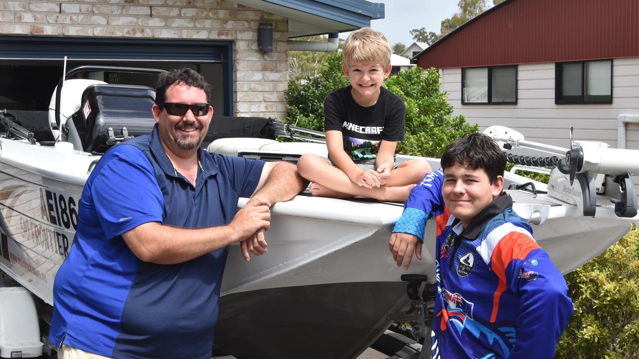 Luke, Bailey and Hayden Houweling with their Quintrex 510 Frontier