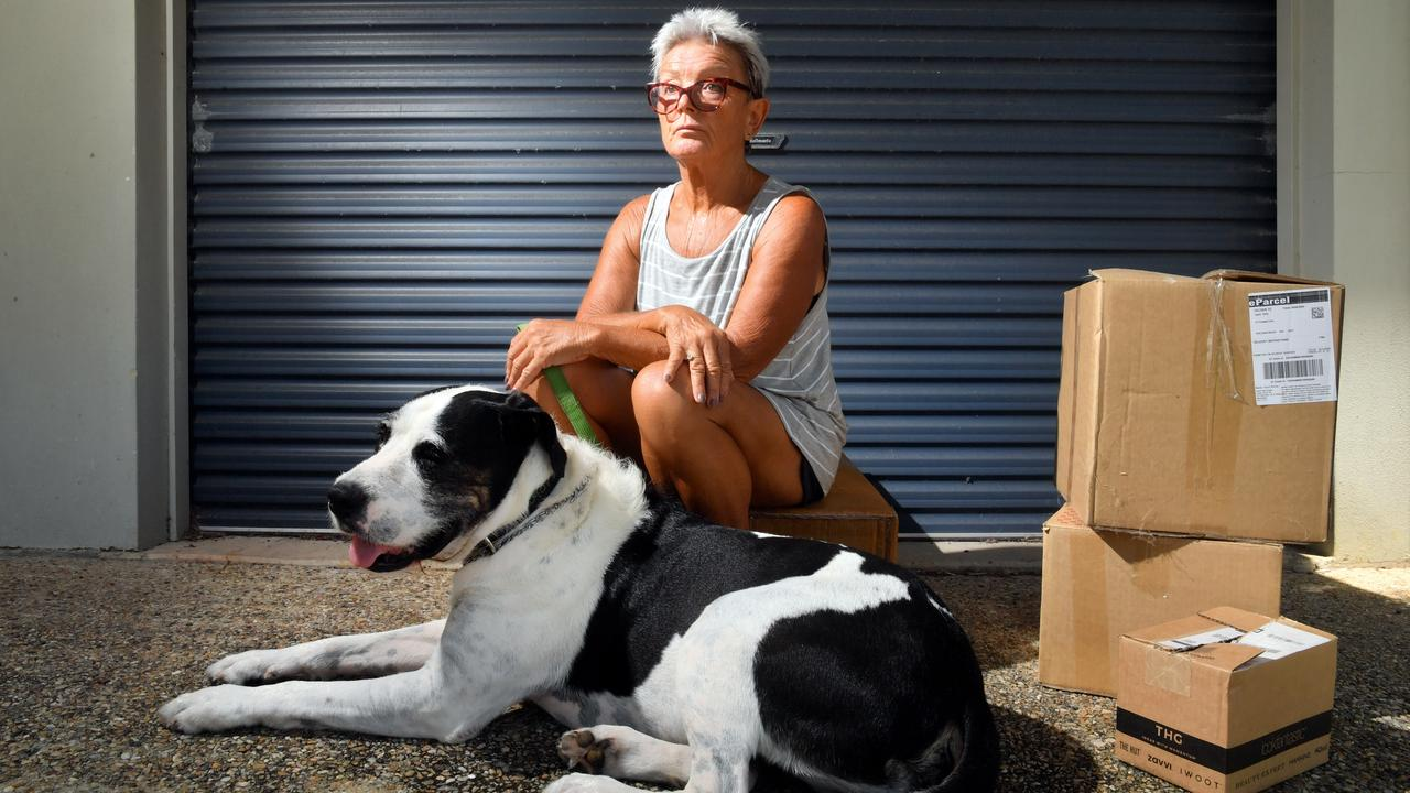 NO SUPPORT: Ingrid Golle and her dog Mr Watson are facing homelessness. Photo: John McCutcheon