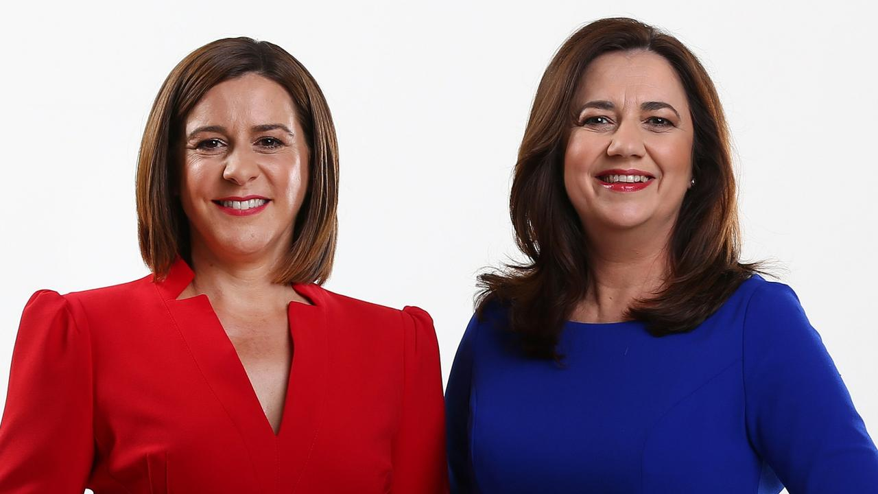 Both Opposition Leader Deb Frecklington and Premier Annastacia Palaszczuk support the Olympics bid. Picture: Adam Head