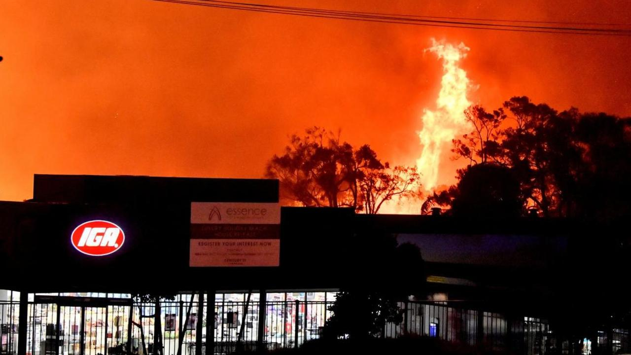 Peregian's commercial centre including the IGA and the nearby Digital Hub came close to the fierce September flames.