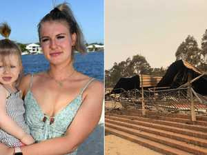 'All gone': Mum jobless after fire destroys work