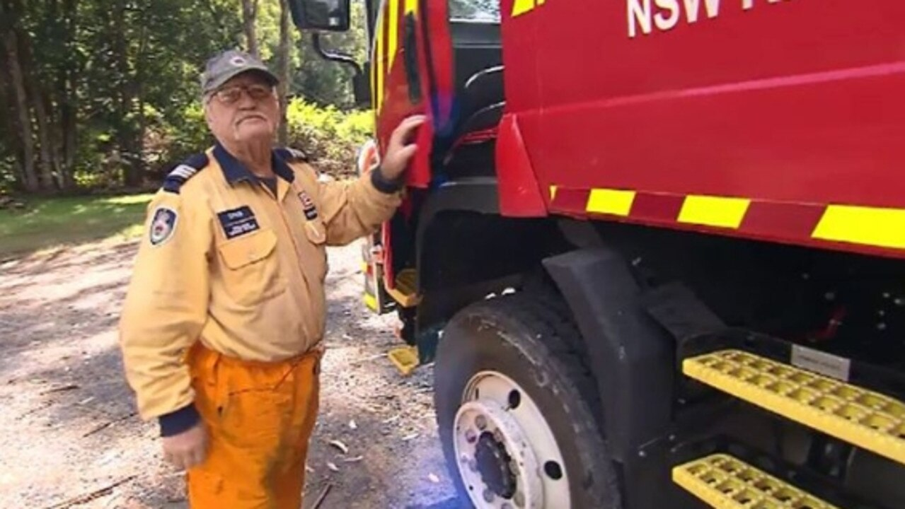 Jock Ross has since been a captain of his local Rurual Fire Service. Picture: 9 News