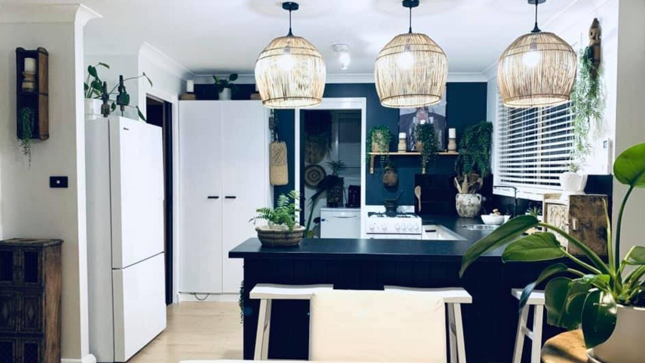 A stylish mum-of-four has revealed how she renovated her rental property on a $6000 budget. Picture: Supplied/Tricia Montgomery