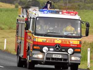 Explosions heard as shed catches fire near Toowoomba