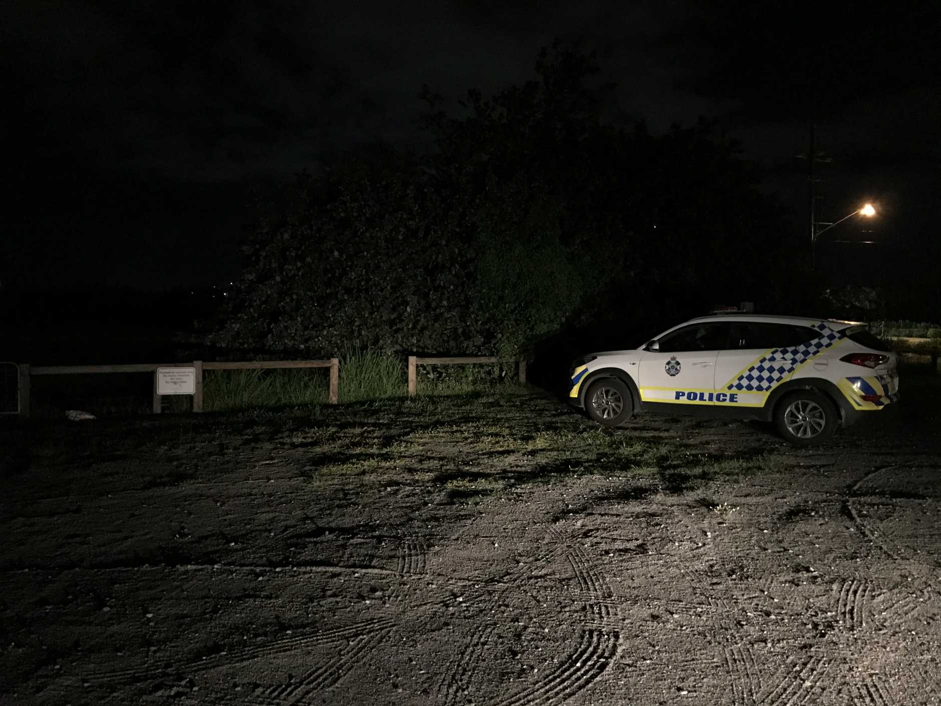 Police have established a crime scene on the banks of the Pioneer River in Mackay after skeletal remains were found about 3pm Friday.