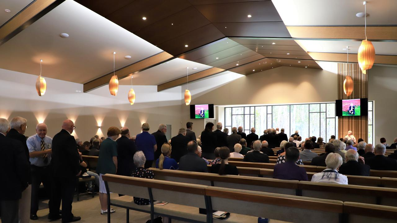 FAREWELL: About 200 people gathered to celebrate the life of Terry Meehan, and farewell a husband, father, grandfather, great grandfather, friend, and colleague yesterday, after he lost a 3-year battle with cancer. Photo: Lacee Froeschl