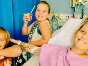 'Cyst stole my freedom': Mum fears never walking again