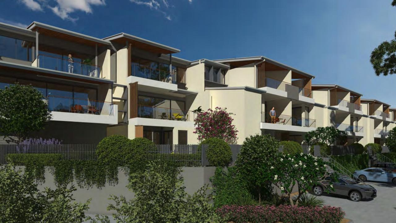 An artist's impression of apartments at a planned mixed use development at 1741-1751 Anzac Avenue in Mango Hill.