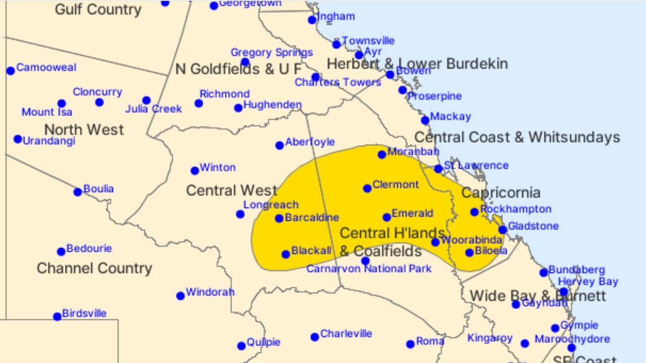 STORM IMMINENT: A severe thunderstorm warningwith damaging winds and heavy rainfall has been issued for Capricornia.
