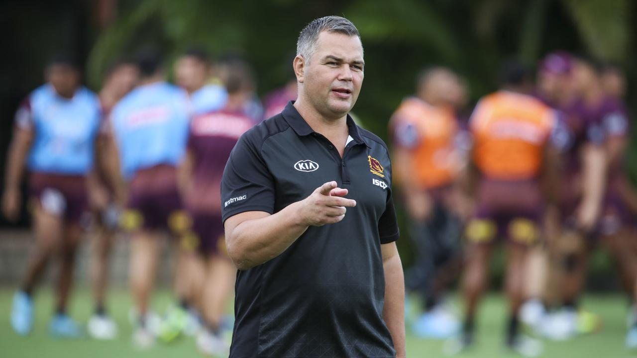 """Broncos coach Anthony Seibold: """"We will give him a little bit of time against the Capras."""" Picture: AAP Image/Glenn Hunt"""