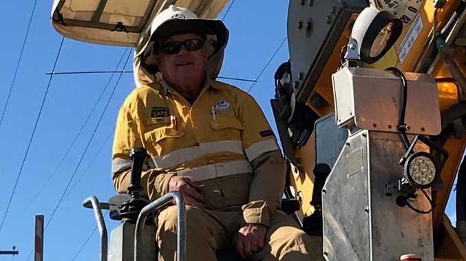 Bluey reflects on retirement after 40 years at Ergon's Bundy depot