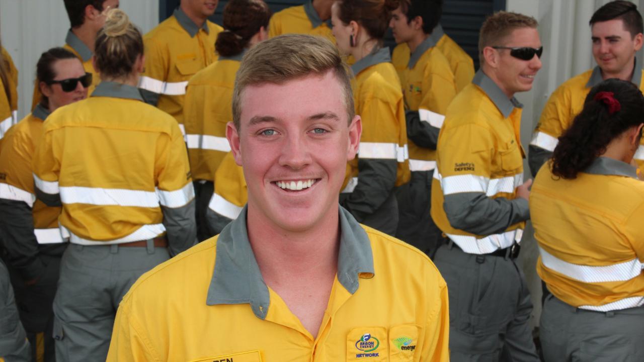 NEW START: Gatton Energex Depot's new apprentice and local boy Ben Moody.