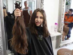 Rapunzel sisters throw down their hair for sick kids