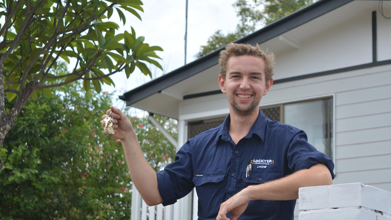 KEYS SECURED: Lachlan Miners, 21, bought his first home last year and said the more he looked into home ownership, the more doable it seemed. Photo: Ebony Graveur.