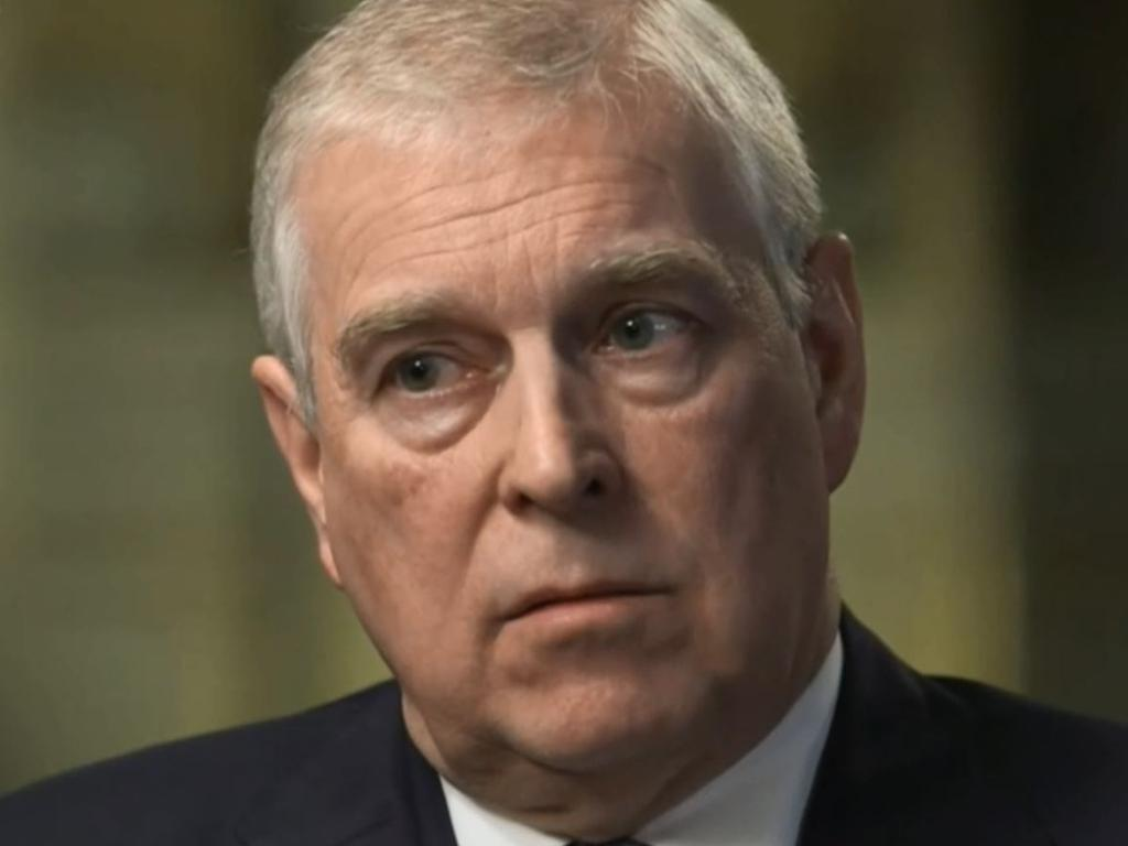 Prince Andrew during his train wreck TV interview. Picture: BBC