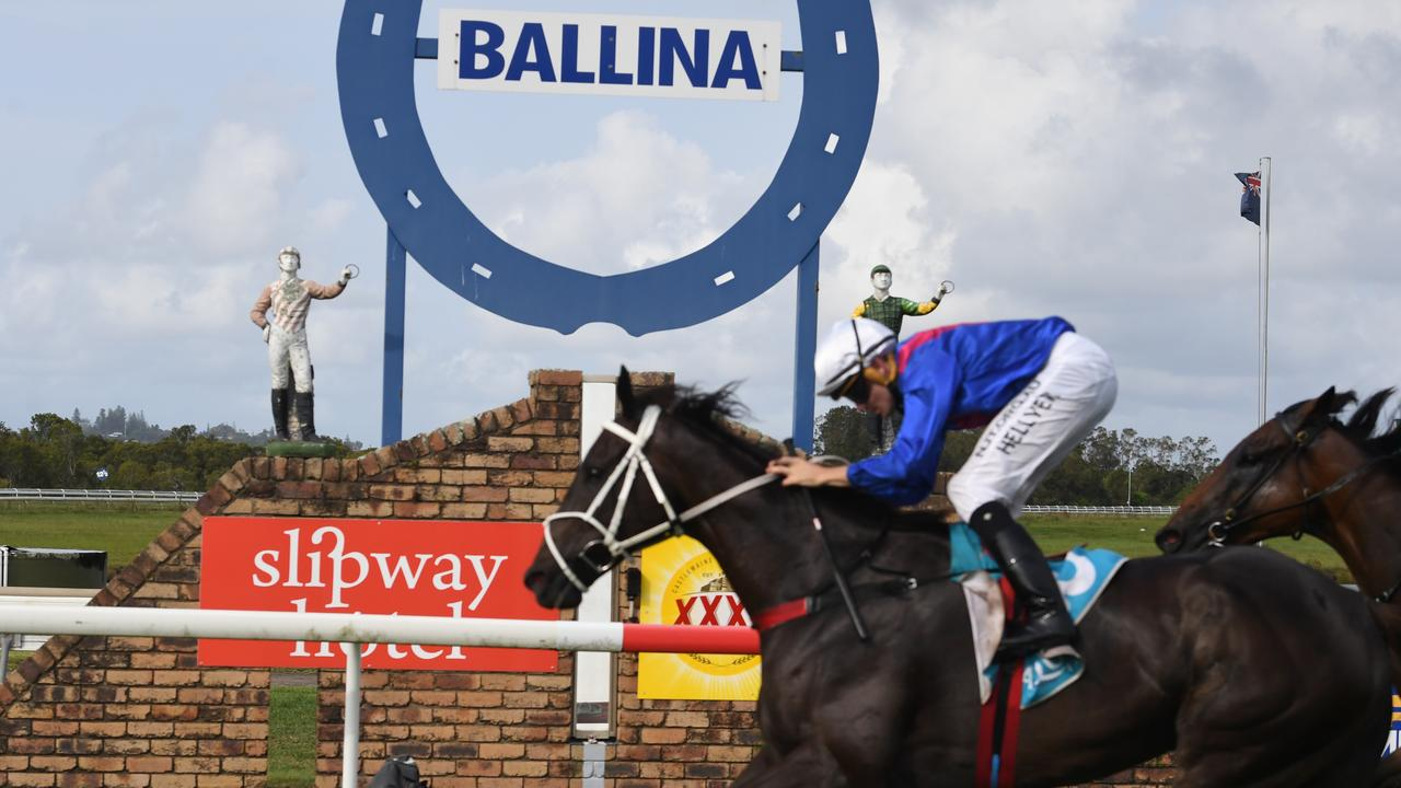 Melted Moments, ridden by Michael Hellyer, won the 2020 Ballina Cup.