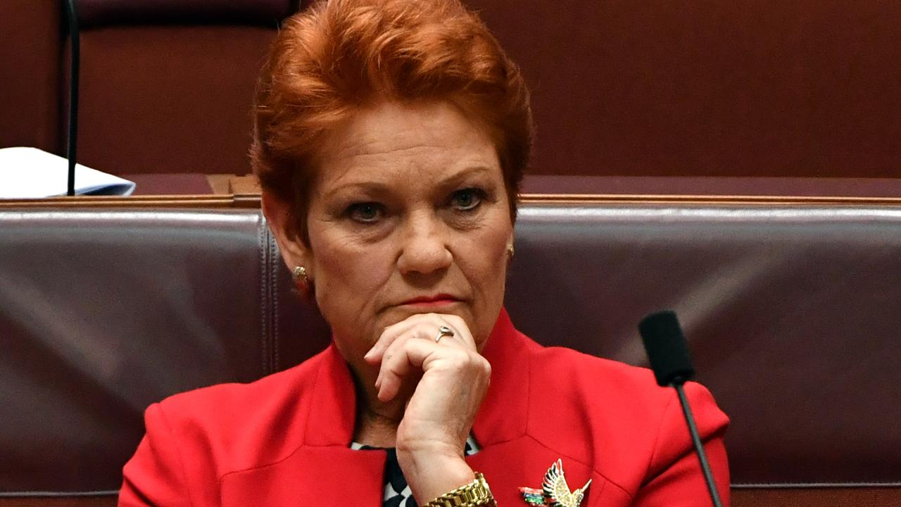 Senator Pauline Hanson says regional Queensland does not support the 2032 Olympics bid. Picture: Mick Tsikas