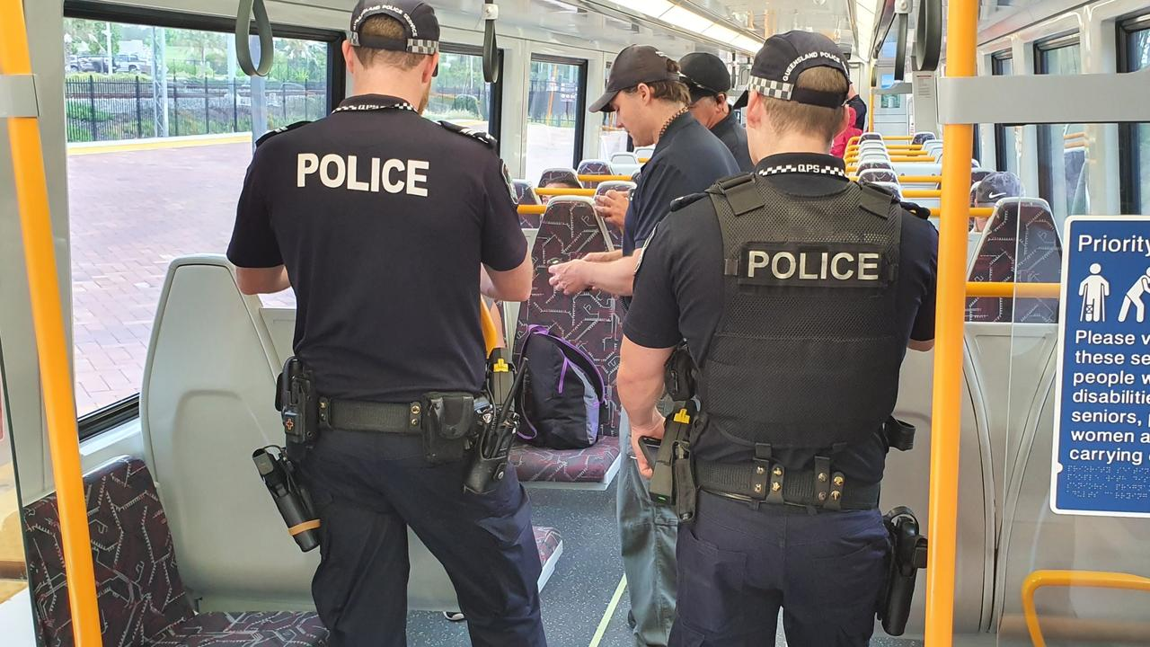 Large numbers of police swooped on trains this week.