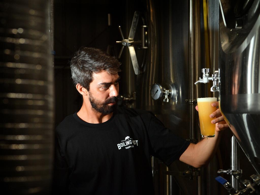 Head brewer at The Boiling Pot in Noosaville Pedro Bevilaqua de Lucca. Photo: John McCutcheon / Sunshine Coast Daily