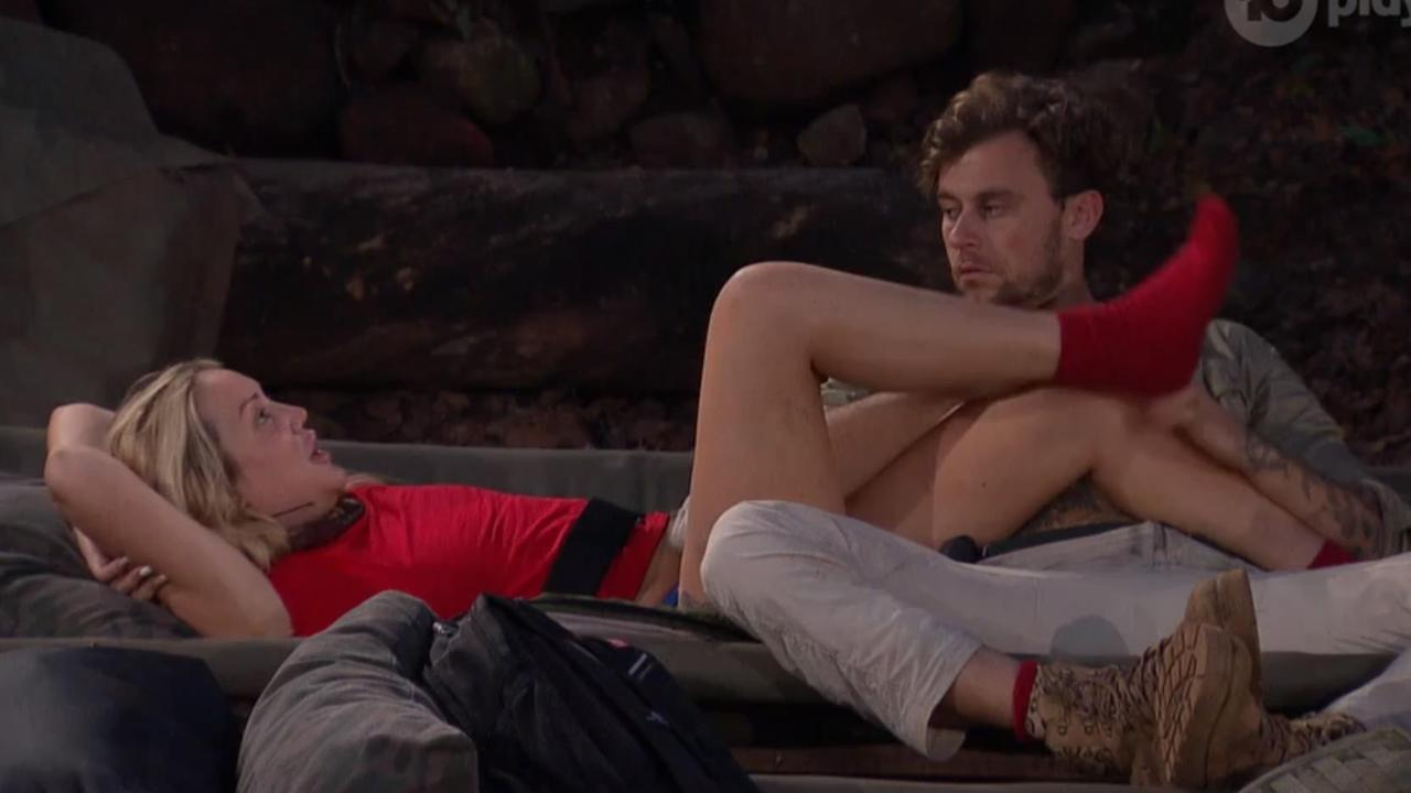 Ryan and Charlotte get cosy on I'm A Celeb.
