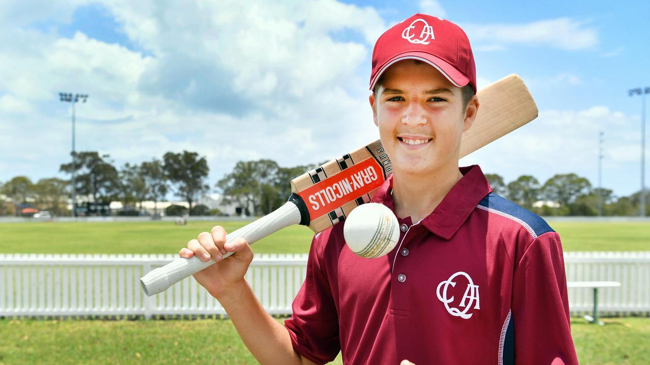 Queensland U/15 cricketer Jack Geldard from Hervey Bay. Photo: Alistair Brightman
