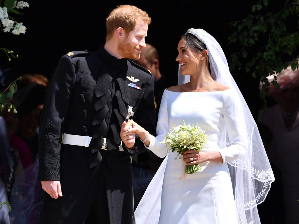 Meghan Markle wore Givenchy on her wedding day. Picture: Getty Images