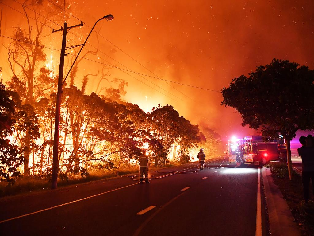 BRAVE ACT: A monstrous and devastating fire ripped through Peregian Springs, Peregian Breeze and Peregian Beach late last year. Volunteer firefighters like Mette Davis were on the frontline helping battle the blazes. Photo Patrick Woods / Sunshine Coast Daily.