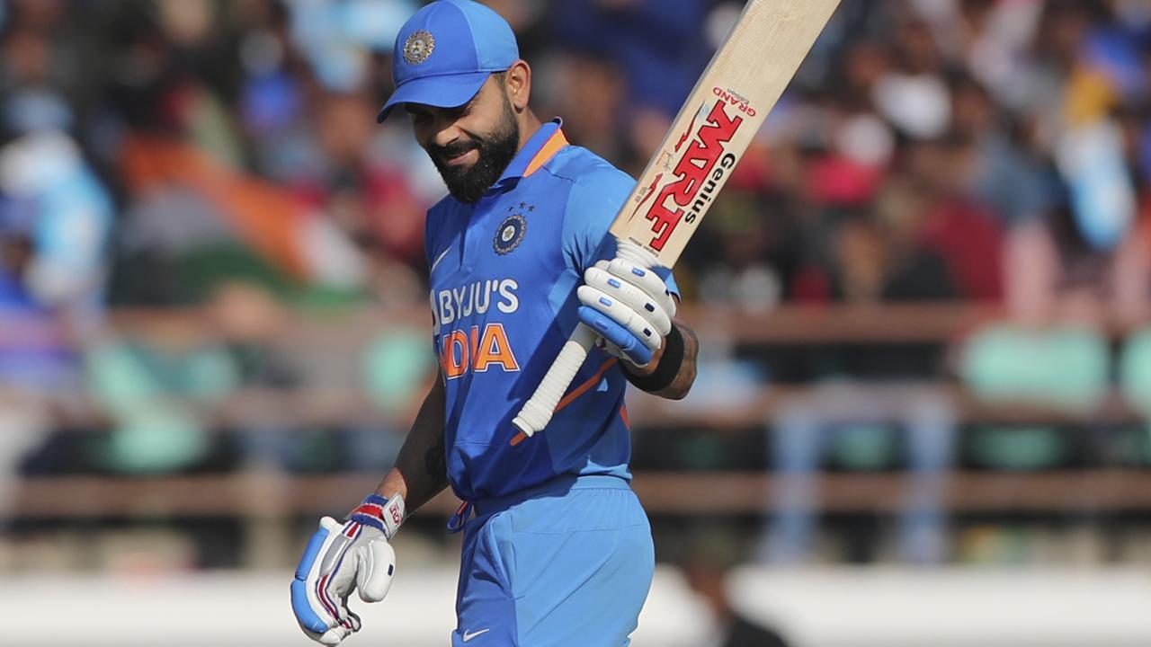 Virat Kohli's half-century helped propel India to a huge first-innings total.