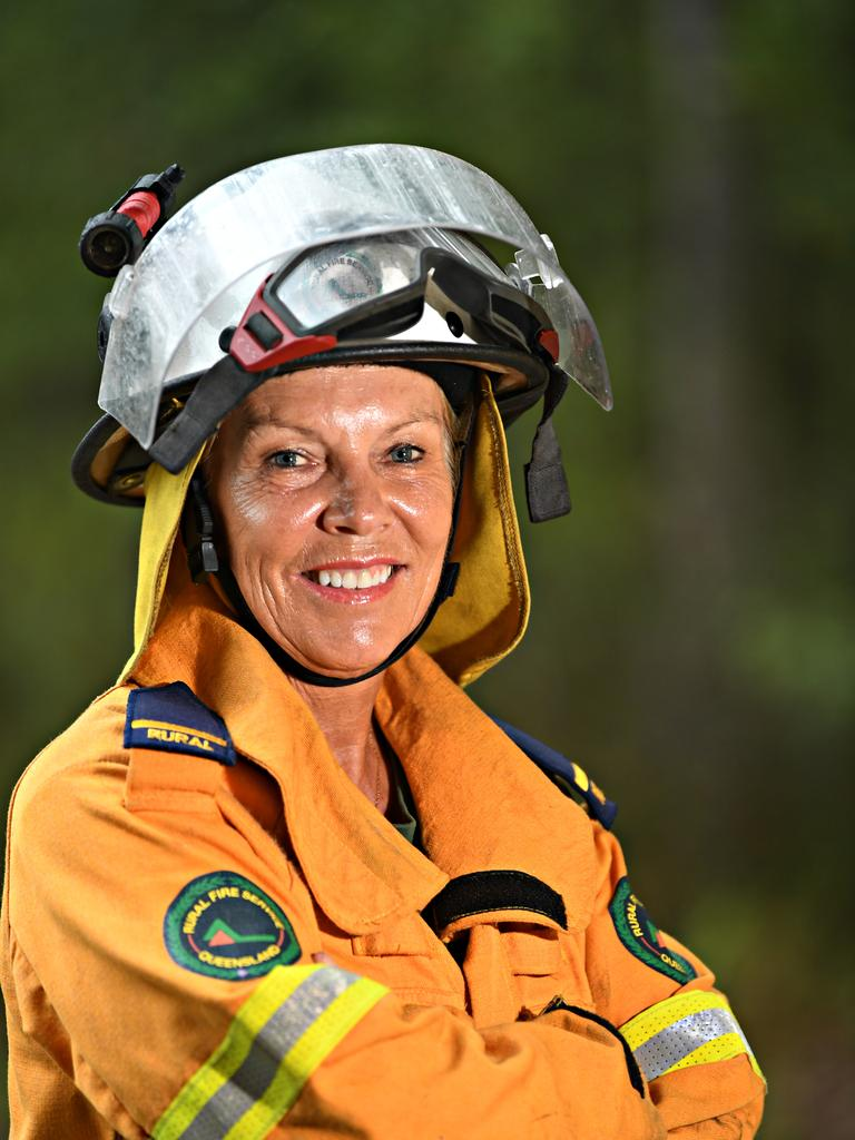 Mette Davis is a firefighter based at the Doonan Rural Fire Brigade Station. PHOTO: Warren Lynam