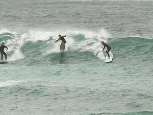 Surfer's painful end to day at popular beach