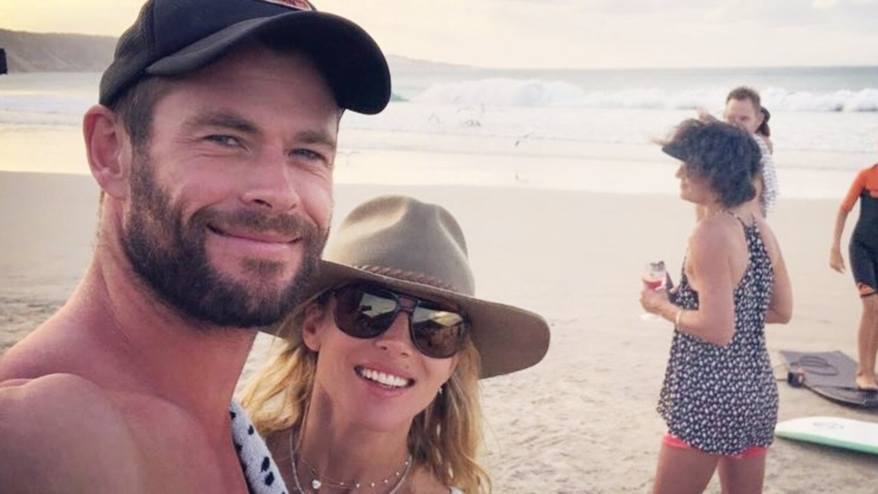 Chris Hemsworth and his wife Elsa Pataky often promote Australian travel to a global audience on their social media account. Picture: Instagram