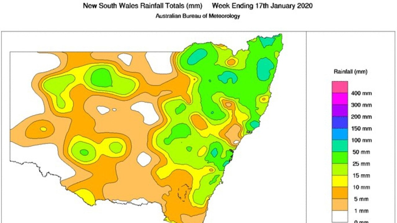 BIG WET: Rainfall totals for the week across NSW. Photo: Bureau of Meteorology