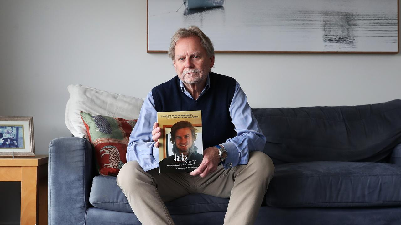 TasWeekend. Ken Fleming of Hobart who lost his son Jack to brain cancer in 2018 aged 21. Ken has written a book Jack's Story to fundraise for a world-leading Australian brain cancer research centre. Picture: NIKKI DAVIS-JONES