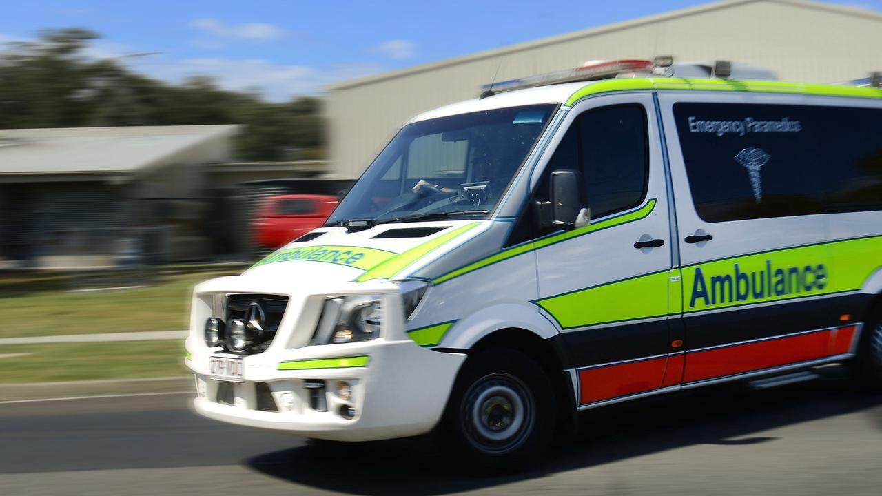 Paramedics treated a man who was injured at a business in Clermont.