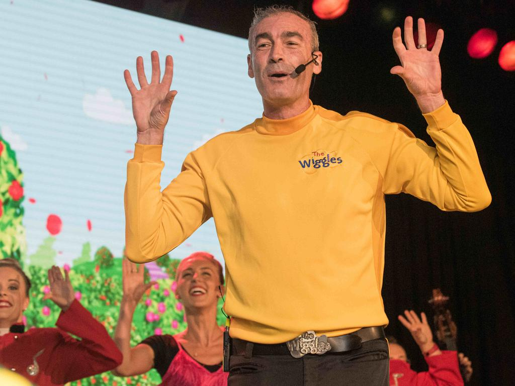 Wiggles' Greg Page during the concert for bushfire relief at which he collapsed. Picture: Daily Telegraph / Flavio Brancaleone